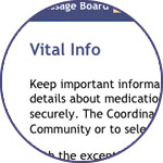 Caregiver support: Keep important information in one place with Lotsa Helping Hands' Vital Information feature.